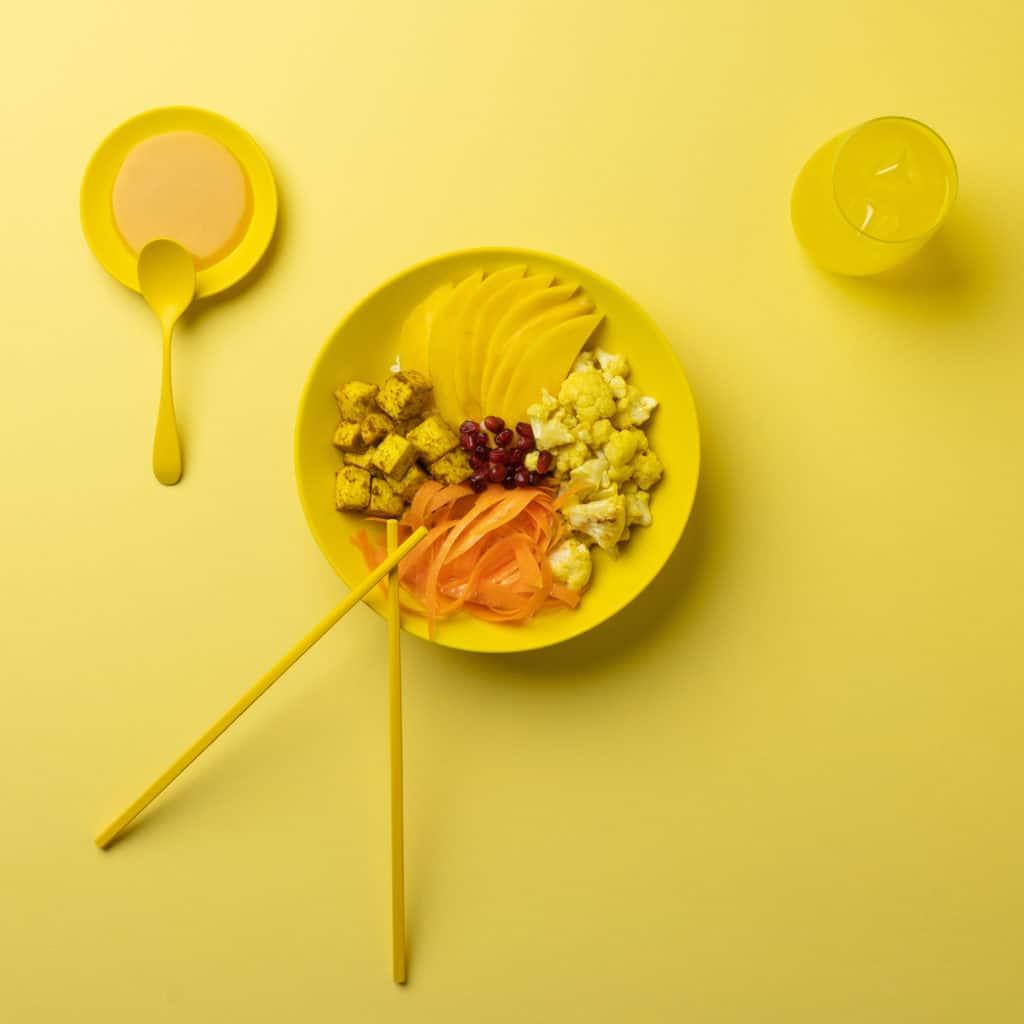 Bowl Pink Yellow Sunshine Moko Moko Lyon